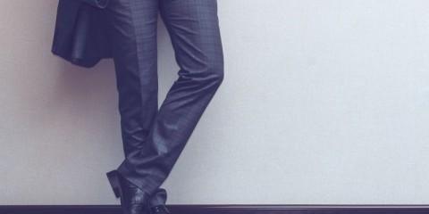 Businessman's legs
